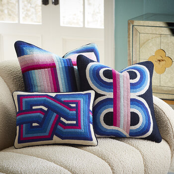 Bargello Supergraphic Pillow