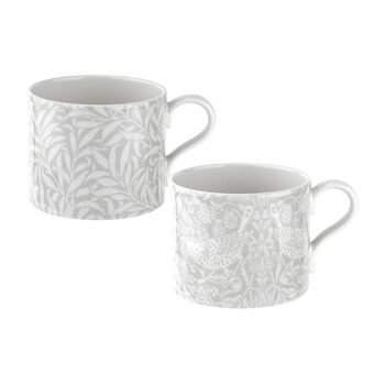 Strawberry Thief & Willow Bough Mugs - Set of 2