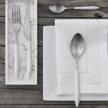 Ares 24 Piece Cutlery Set - White