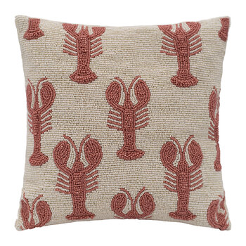 Lobsters Beaded Cushion