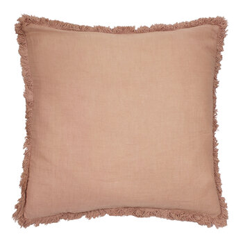 Cushion Cover with Fringing - Coral