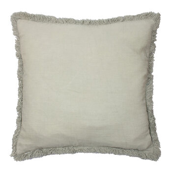 Cushion Cover with Fringing - Light Green