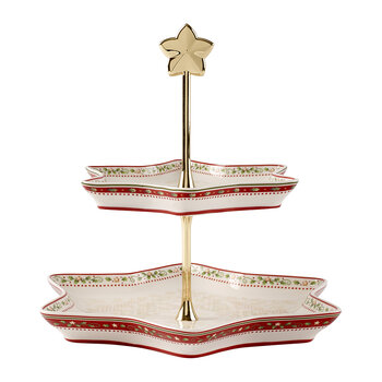 Winter Bakery Delight Cake Stand - Holly