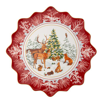 Toy's Fantasy Pastry Plate - Large - Forest Animals
