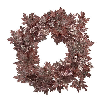 Metallic Glitter Grape Wreath - Pink