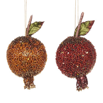 Décoration de Sapin Grenade Embellie - Lot de 2