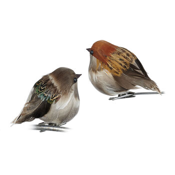 Robin Clip Tree Decoration - Set of 2