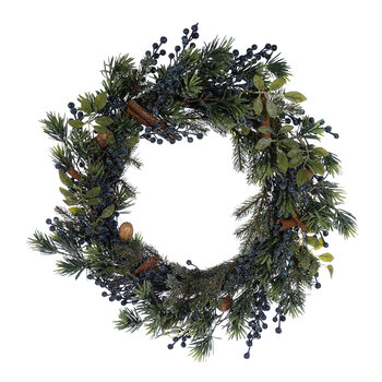 Frosted Blueberry Wreath