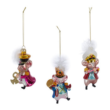 Music Mice Tree Decorations - Set of 3