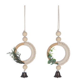 Nordic Look Macrame Tree Decoration - Set of 2