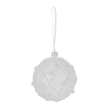 Pearl Trellis Bauble - Set of 12 - Ivory