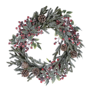 Snow Berries & Pinecone Wreath