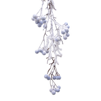 Snowy Frosted Berry Garland