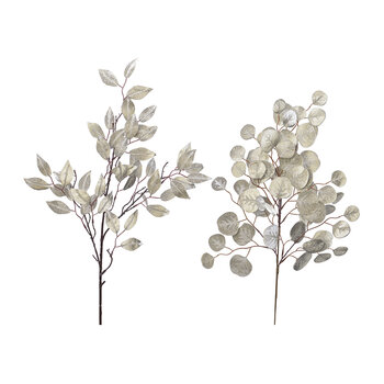 Glitter Leaf Spray - Set of  2 - Champagne