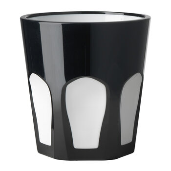 Smalto Acrylic Tumbler - Black/White