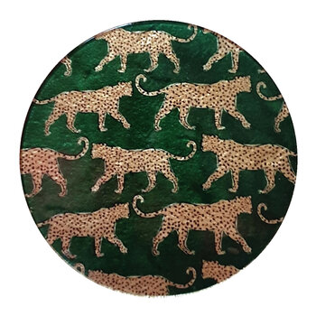 Glass Trivet - Set of 4 - Leopard