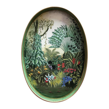 Hand-painted Iron Tray - Garden