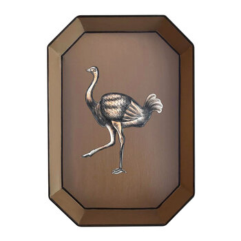 Hand-painted Iron Tray - Emu