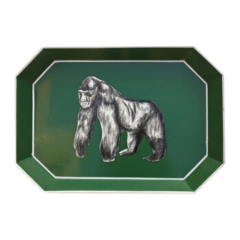 Hand-painted Iron Tray - Gorilla