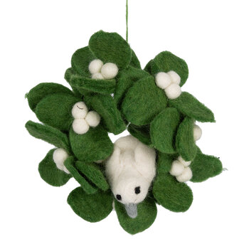 Mistletoe Mini Wreath with Dove