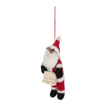 Naughty or Nice Santa Tree Decoration