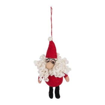 Curly Santa Tree Decoration