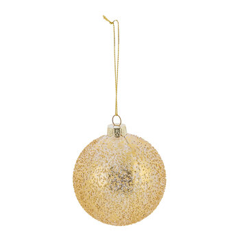 Gold Crusted Glass Bauble - Set of 6