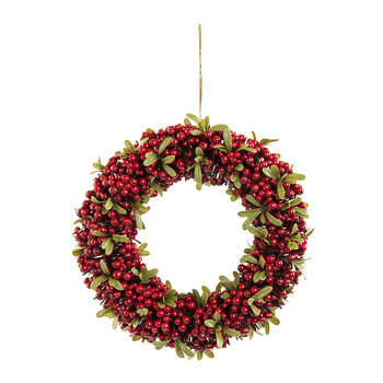 Red Berry & Green Leaf Wreath