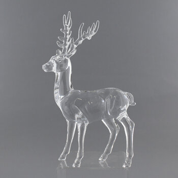 Standing Reindeer Ornament - Clear
