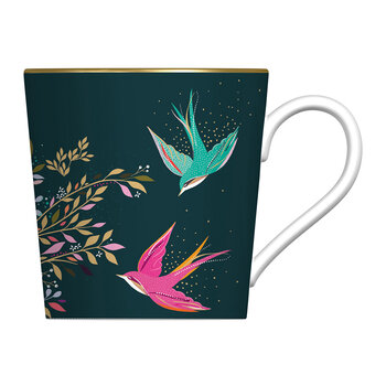 Birds Mug - Dark Green