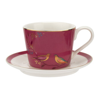 Birds Espresso Cup and Saucer - Set of 4
