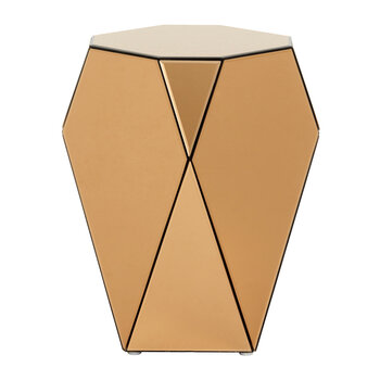 Iras Glass Side Table - Brown