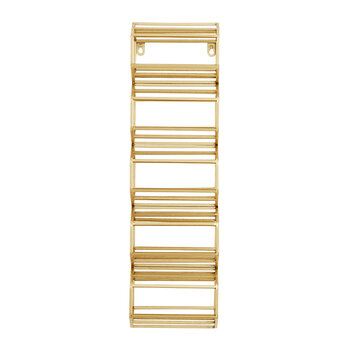 Iron Wine Rack - Gold