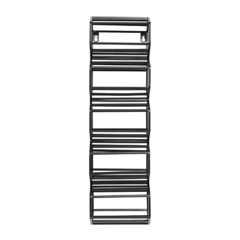 Iron Wine Rack - Black