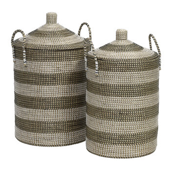 Seagrass Laundry Basket - Set of 2