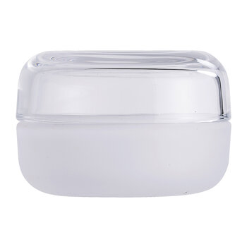 Jar with Lid - White