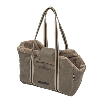 Lucca Dog Carrier - Canvas Sand