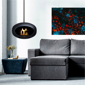 Sky Suspended Fireplace - Black