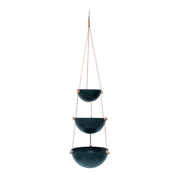 Pif Paf Puf Hanging Storage - 3 Bowls - Dark Gray