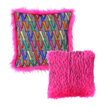 Virtus Faux Fur Cushion - Pink
