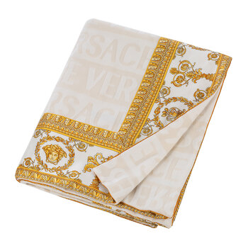 Barocco&Robe Throw - White/Gold
