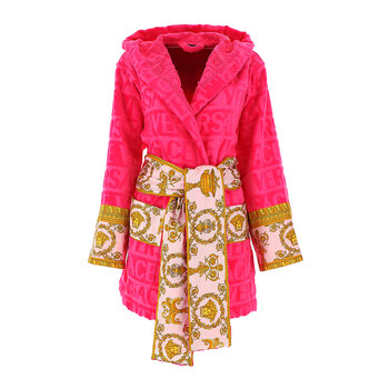 Barocco&Robe Hooded Bathrobe - Pink