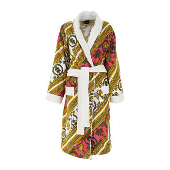I Love Baroque Bathrobe - White/Pink/Gold