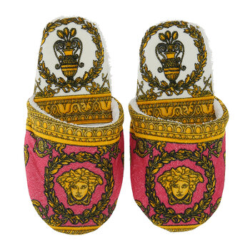 I Love Baroque Slippers - Pink/White/Gold