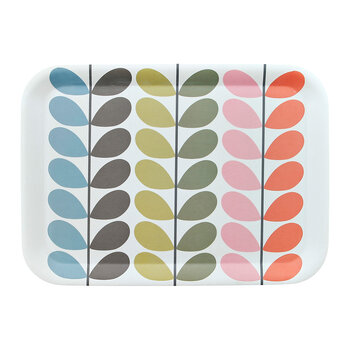 Solid Steam Bamboo Tray - Multi