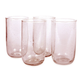 Seeded Water Glasses - Pale Rose