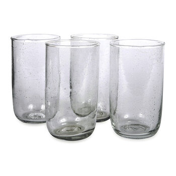 Seeded Water Glasses - Deep Sage
