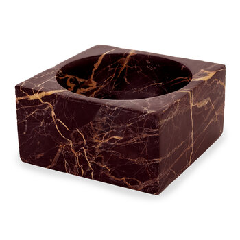 Modernist Marble Bowl - Red