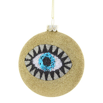 Glittered Eye Bauble