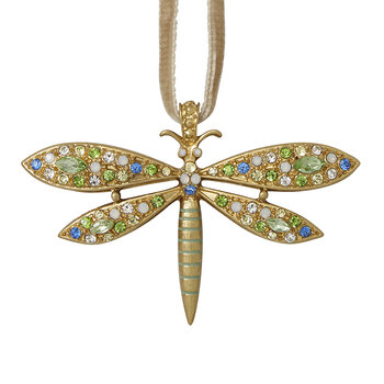 Delicate Dragonfly Tree Decoration - Pastel